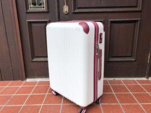 白いスーツケース