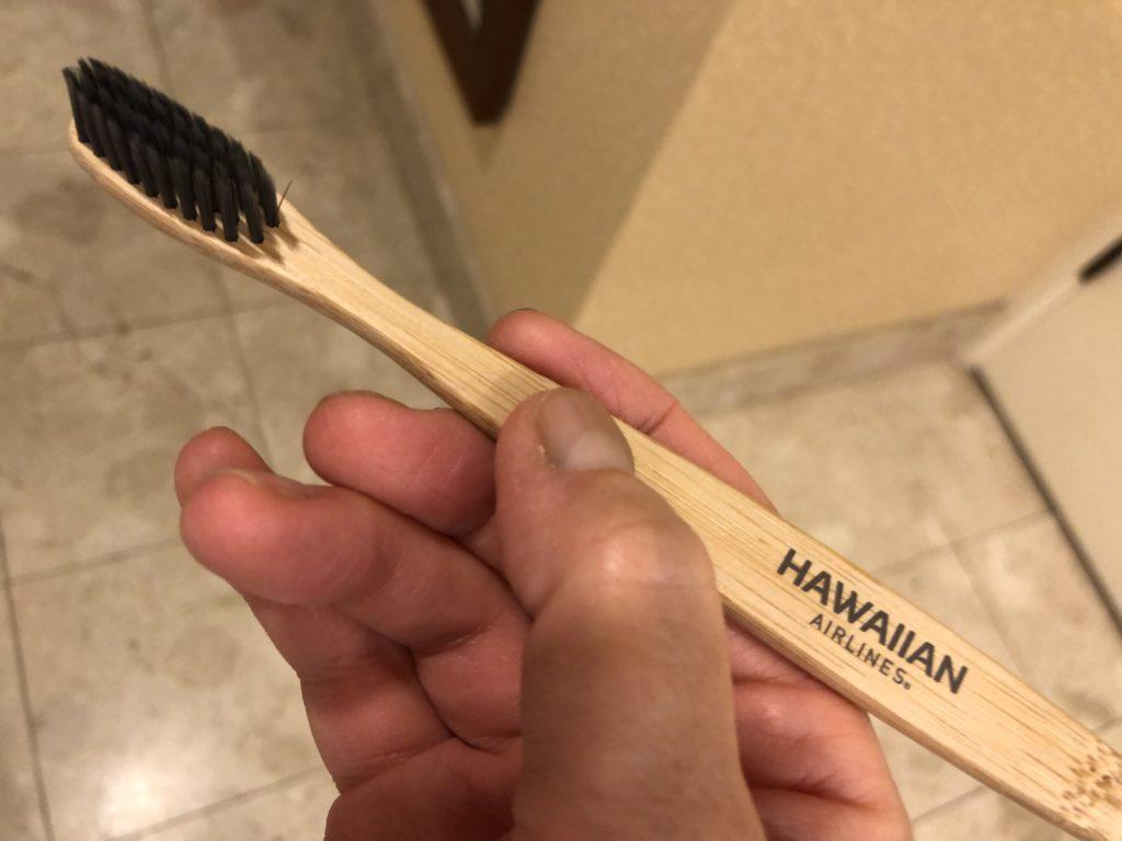 ハワイアン航空の歯ブラシ